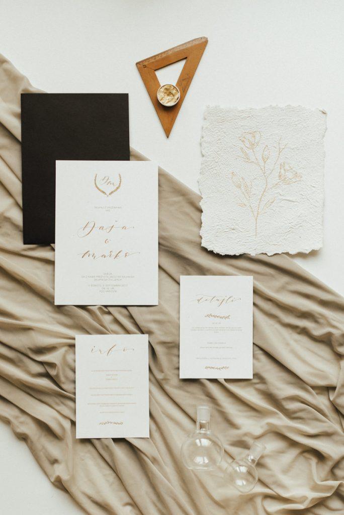 GOLDEN WEDDING INVITATION - a la mina